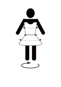 3D preview garment design pictogram